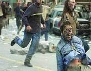 Scena da un film di zombie